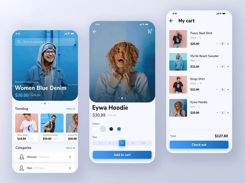 امکانات طراحی اپلیکیشن فروشگاهی