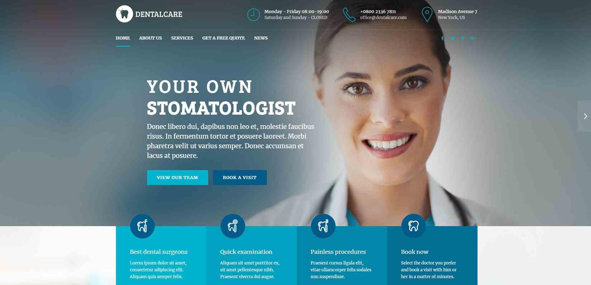 طراحی انواع سایتهای پزشکی